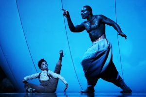 A Midsummer Night's Dream - Press Art - Kathryn Hunter and David Harewood  Photo by Es Devlin